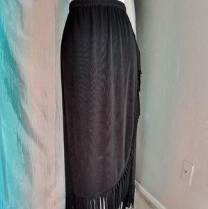 NWT Chico's Fringe Hem Skirt